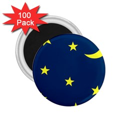 Star Moon Blue Sky 2 25  Magnets (100 Pack)  by AnjaniArt