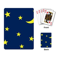 Star Moon Blue Sky Playing Card by AnjaniArt