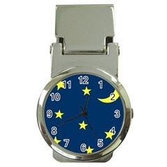 Star Moon Blue Sky Money Clip Watches