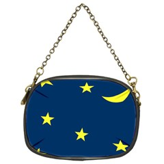 Star Moon Blue Sky Chain Purses (two Sides)  by AnjaniArt