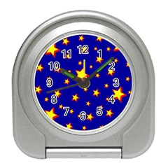 Star Blue Sky Yellow Travel Alarm Clocks by AnjaniArt