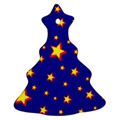 Star Blue Sky Yellow Ornament (christmas Tree)