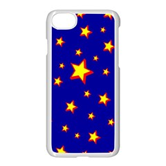 Star Blue Sky Yellow Apple Iphone 7 Seamless Case (white)