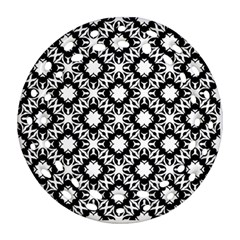 Star Flower Round Filigree Ornament (two Sides)