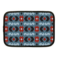 Star Wave Chevron Grey Gray Netbook Case (medium)  by AnjaniArt