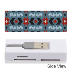 Star Wave Chevron Grey Gray Memory Card Reader (stick)