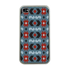 Star Wave Chevron Grey Gray Apple Iphone 4 Case (clear)
