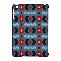 Star Wave Chevron Grey Gray Apple Ipad Mini Hardshell Case (compatible With Smart Cover)