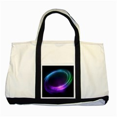 Spaces Ring Two Tone Tote Bag by AnjaniArt