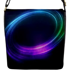 Spaces Ring Flap Messenger Bag (s) by AnjaniArt