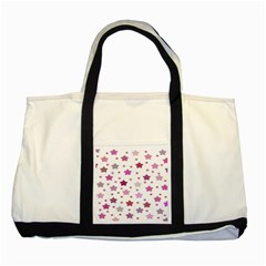 Star Purple Two Tone Tote Bag