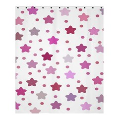 Star Purple Shower Curtain 60  X 72  (medium)  by AnjaniArt
