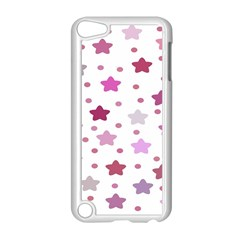 Star Purple Apple Ipod Touch 5 Case (white) by AnjaniArt