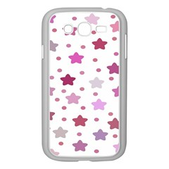 Star Purple Samsung Galaxy Grand Duos I9082 Case (white) by AnjaniArt