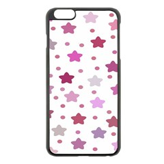 Star Purple Apple Iphone 6 Plus/6s Plus Black Enamel Case