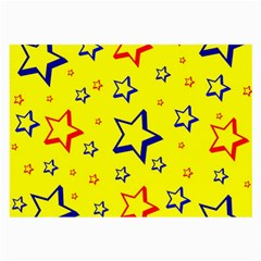 Star Yellow Red Blue Large Glasses Cloth (2 Side)