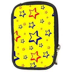 Star Yellow Red Blue Compact Camera Cases by AnjaniArt