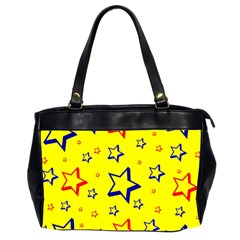 Star Yellow Red Blue Office Handbags (2 Sides)