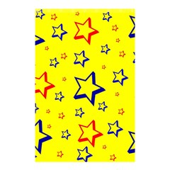 Star Yellow Red Blue Shower Curtain 48  X 72  (small)  by AnjaniArt