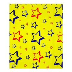 Star Yellow Red Blue Shower Curtain 60  X 72  (medium)  by AnjaniArt