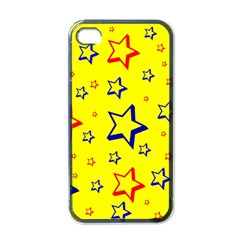 Star Yellow Red Blue Apple Iphone 4 Case (black)
