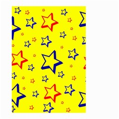 Star Yellow Red Blue Small Garden Flag (two Sides)