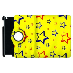 Star Yellow Red Blue Apple Ipad 2 Flip 360 Case by AnjaniArt