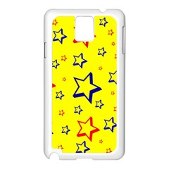 Star Yellow Red Blue Samsung Galaxy Note 3 N9005 Case (white) by AnjaniArt