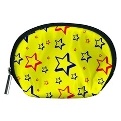 Star Yellow Red Blue Accessory Pouches (medium)  by AnjaniArt