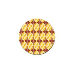 Star Brown Yellow Light Golf Ball Marker (4 Pack) by AnjaniArt