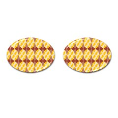 Star Brown Yellow Light Cufflinks (oval) by AnjaniArt
