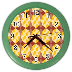 Star Brown Yellow Light Color Wall Clocks by AnjaniArt