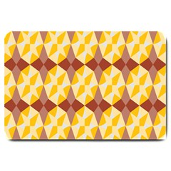 Star Brown Yellow Light Large Doormat  by AnjaniArt