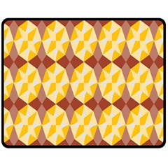 Star Brown Yellow Light Double Sided Fleece Blanket (medium)  by AnjaniArt