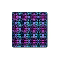 Star Flower Background Pattern Colour Square Magnet