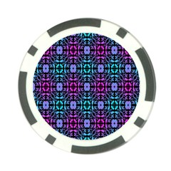 Star Flower Background Pattern Colour Poker Chip Card Guard by AnjaniArt