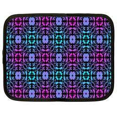 Star Flower Background Pattern Colour Netbook Case (xxl)  by AnjaniArt