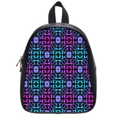 Star Flower Background Pattern Colour School Bags (small)