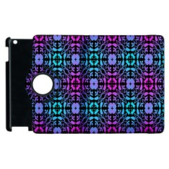 Star Flower Background Pattern Colour Apple Ipad 2 Flip 360 Case by AnjaniArt