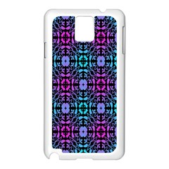 Star Flower Background Pattern Colour Samsung Galaxy Note 3 N9005 Case (white) by AnjaniArt