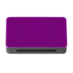 Stripy Purple Memory Card Reader With Cf