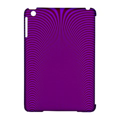 Stripy Purple Apple Ipad Mini Hardshell Case (compatible With Smart Cover)