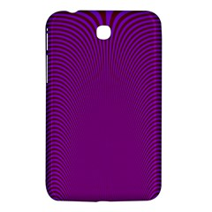Stripy Purple Samsung Galaxy Tab 3 (7 ) P3200 Hardshell Case  by AnjaniArt