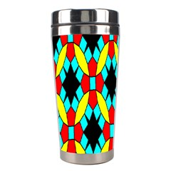 Tiling Flower Star Stainless Steel Travel Tumblers by AnjaniArt