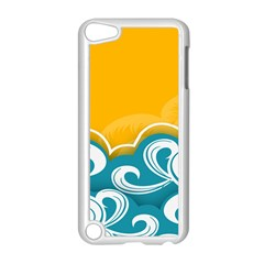 Summer Sea Water Wave Tree Yellow Blue Apple Ipod Touch 5 Case (white)