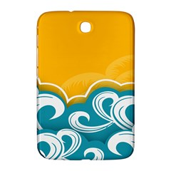 Summer Sea Water Wave Tree Yellow Blue Samsung Galaxy Note 8 0 N5100 Hardshell Case  by AnjaniArt