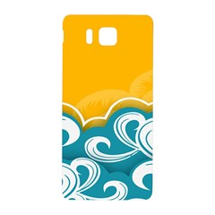 Summer Sea Water Wave Tree Yellow Blue Samsung Galaxy Alpha Hardshell Back Case