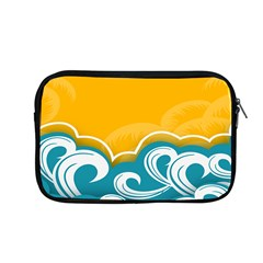 Summer Sea Water Wave Tree Yellow Blue Apple Macbook Pro 13  Zipper Case