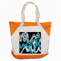 Tangled Rope Blue White Accent Tote Bag