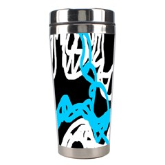 Tangled Rope Blue White Stainless Steel Travel Tumblers by AnjaniArt